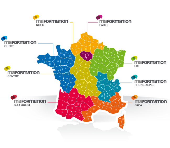 carte couverture géographique Formation